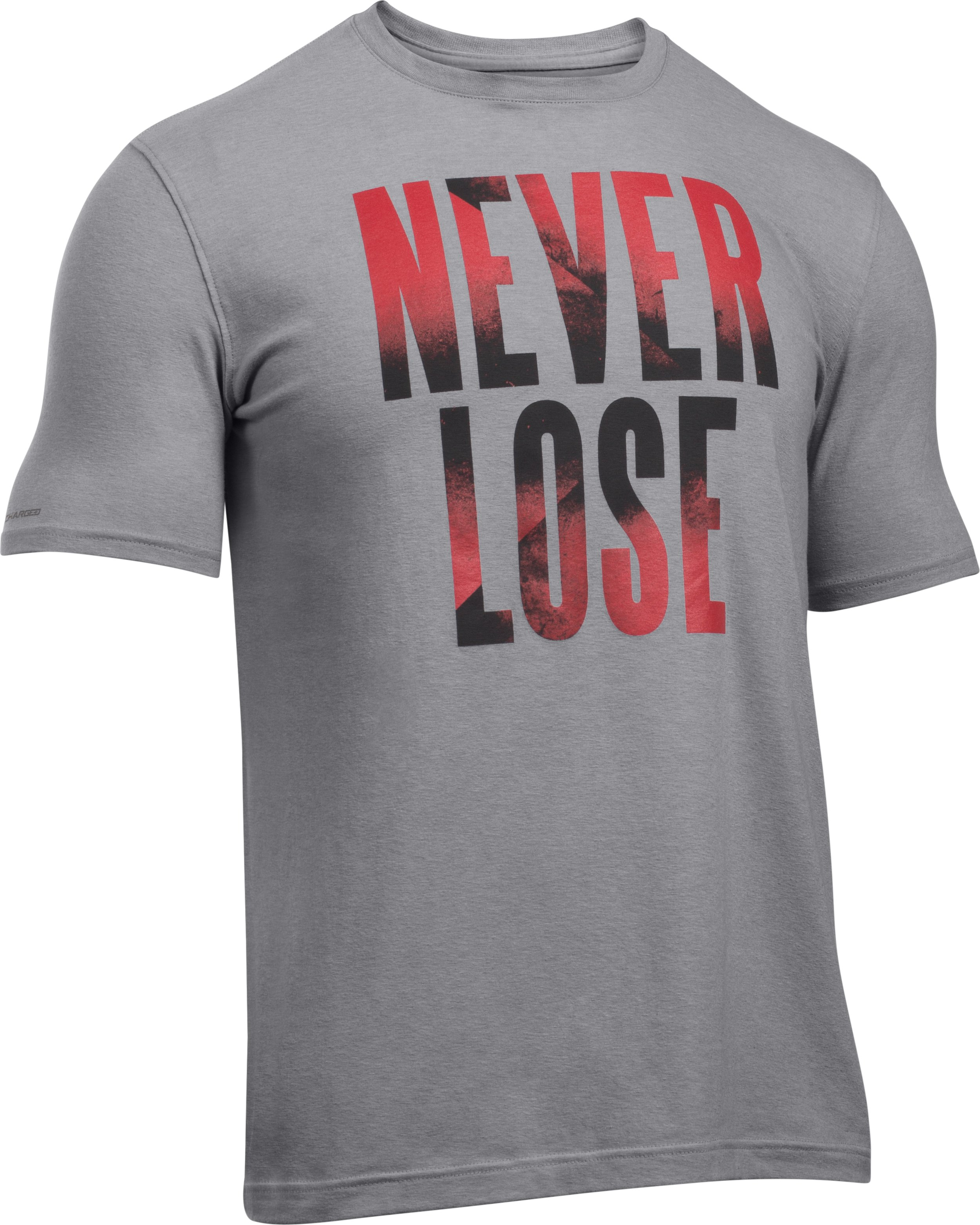 Men's UA Never Lose T-Shirt , True Gray Heather