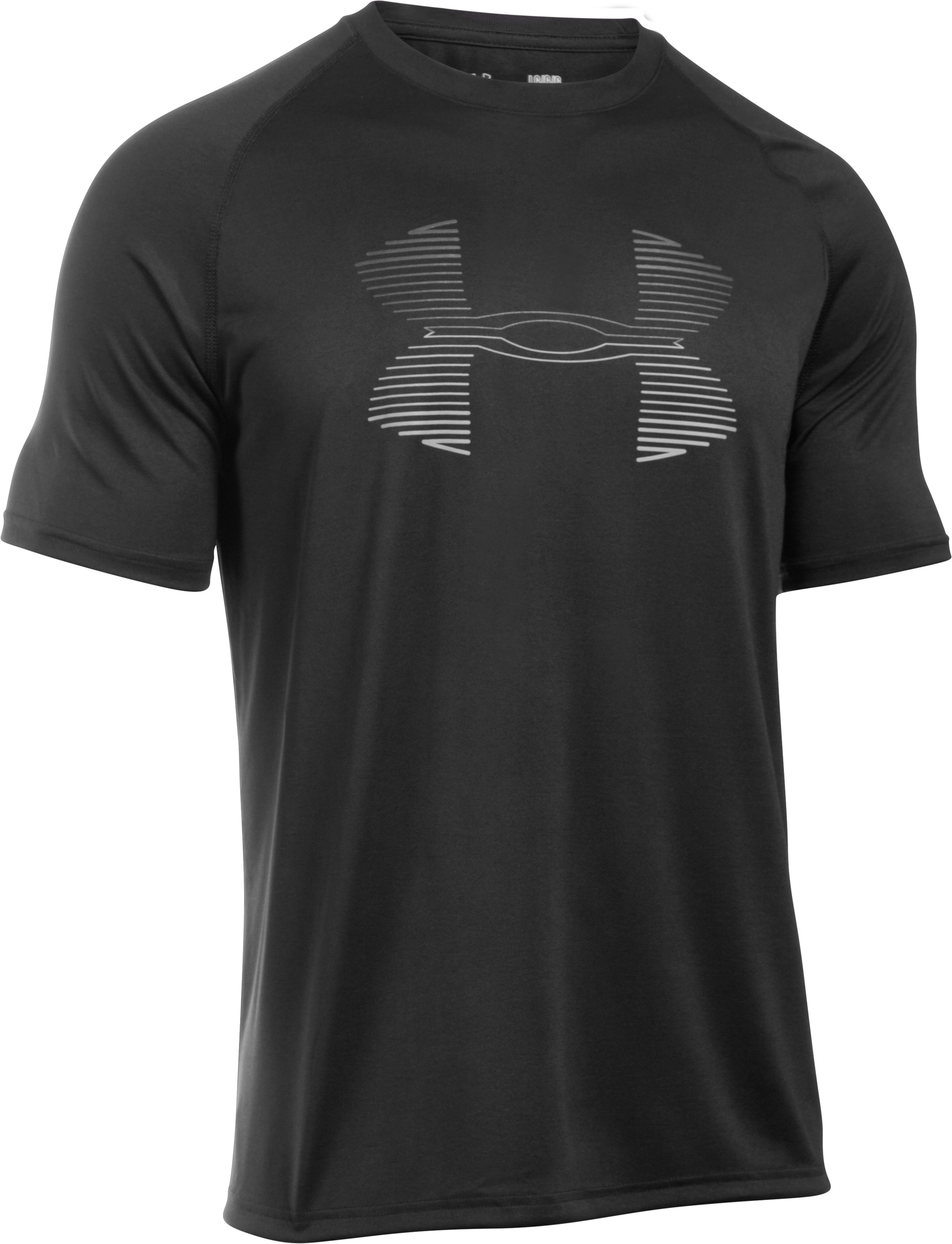 Men's UA Tech™ Horizon Logo Tank, Black