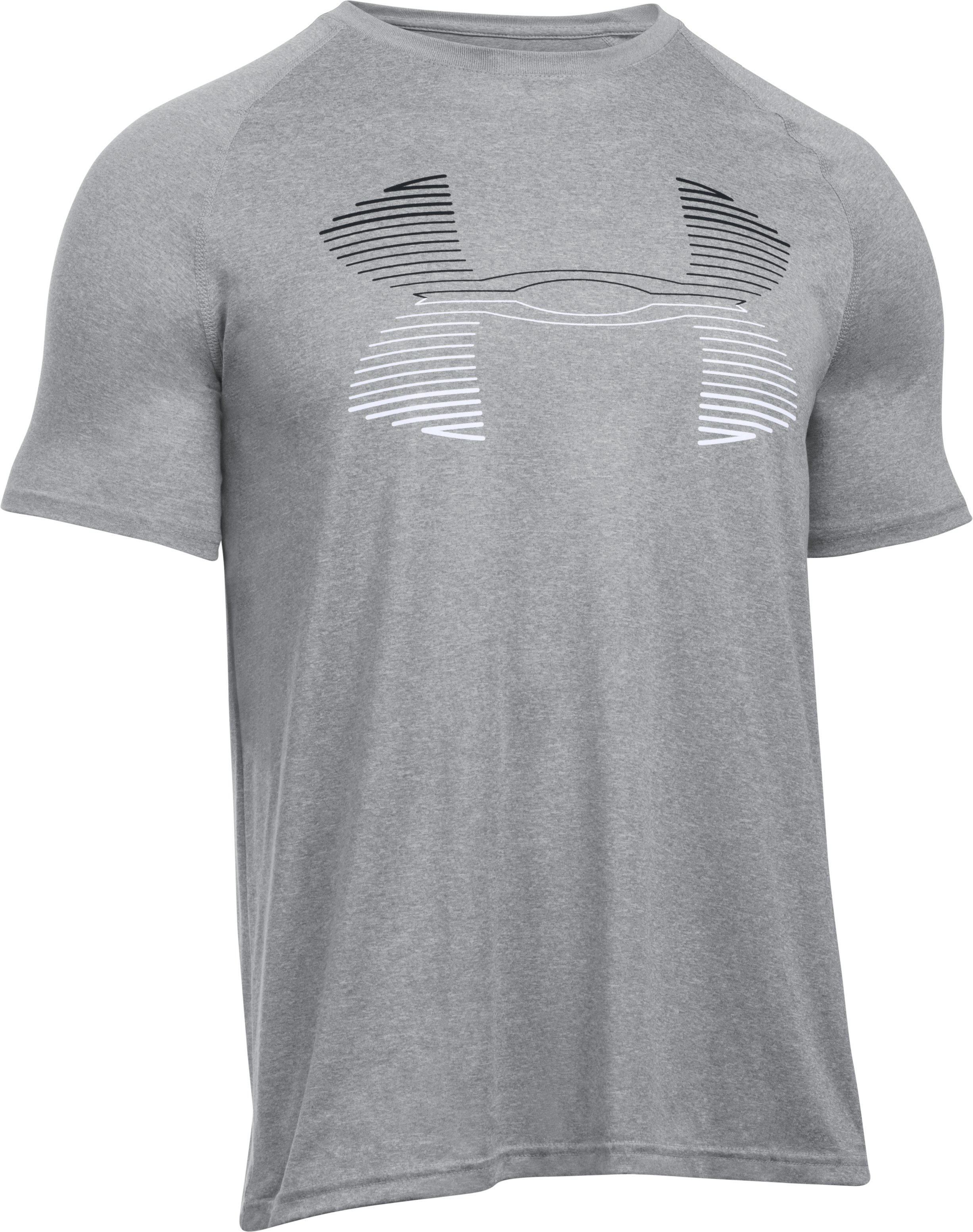Men's UA Tech™ Horizon Logo Tank, True Gray Heather