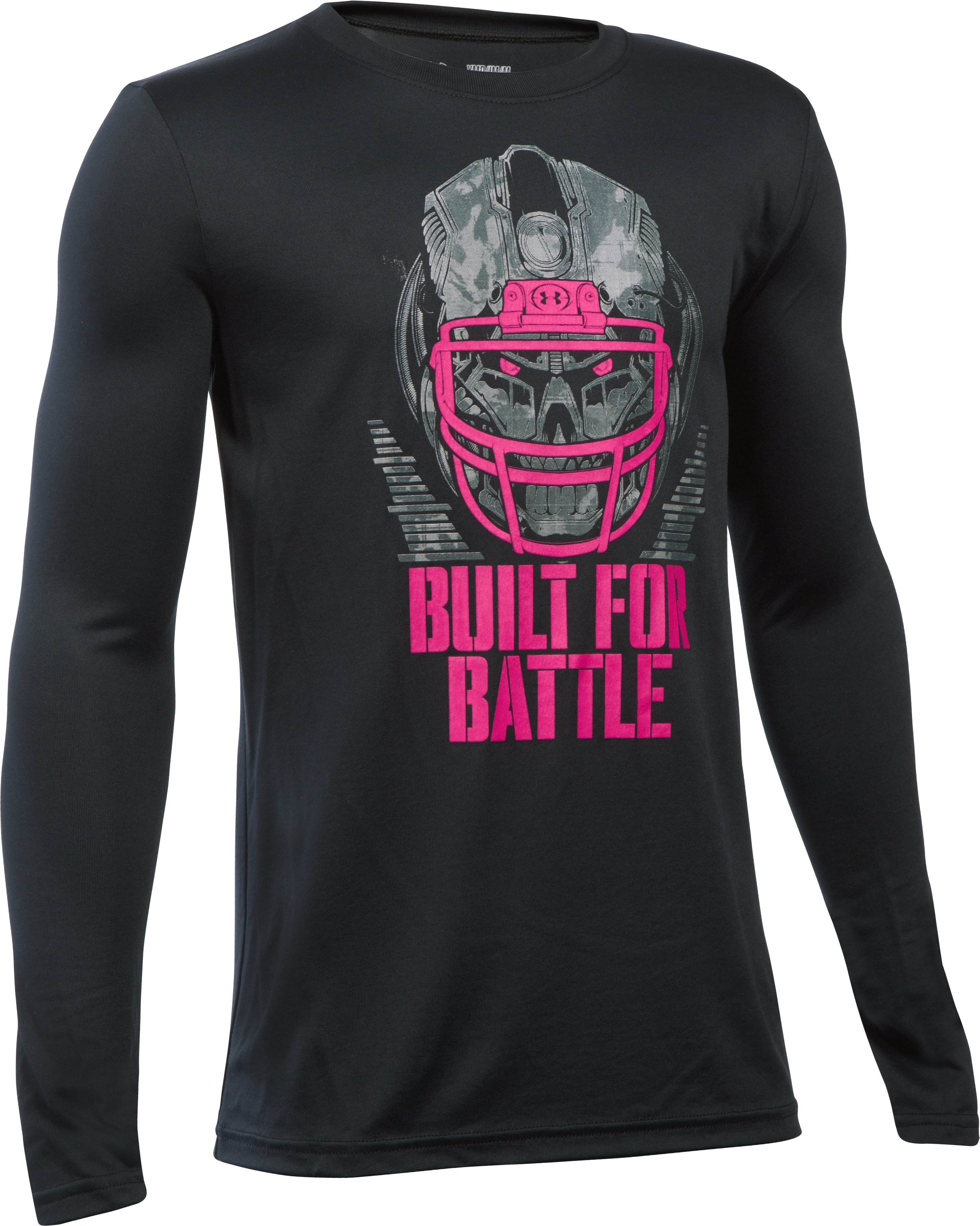 Boys' UA Power In Pink® Built For Battle T-Shirt, Black ,