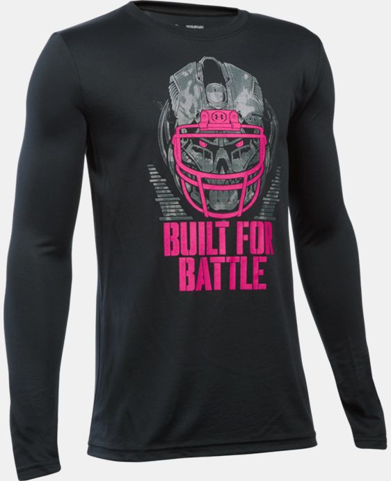 New Arrival  Boys' UA Power In Pink® Built For Battle T-Shirt LIMITED TIME: FREE SHIPPING 1 Color $34.99