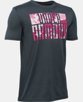 Boys' UA Power In Pink® Armoured T-Shirt  1 Color $22.99