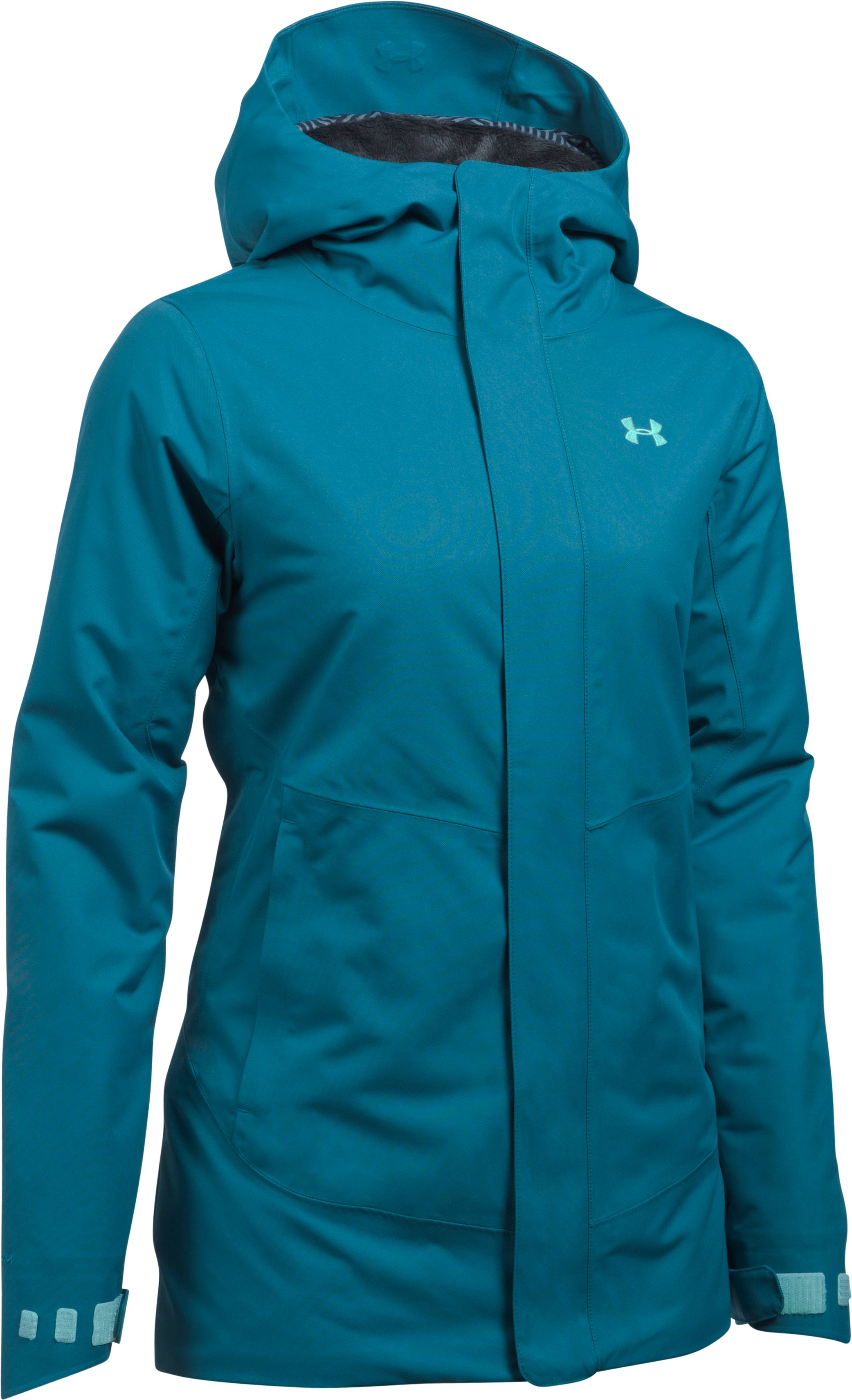 Women's ColdGear® Infrared Powerline Insulated Jacket, BAYOU BLUE, undefined