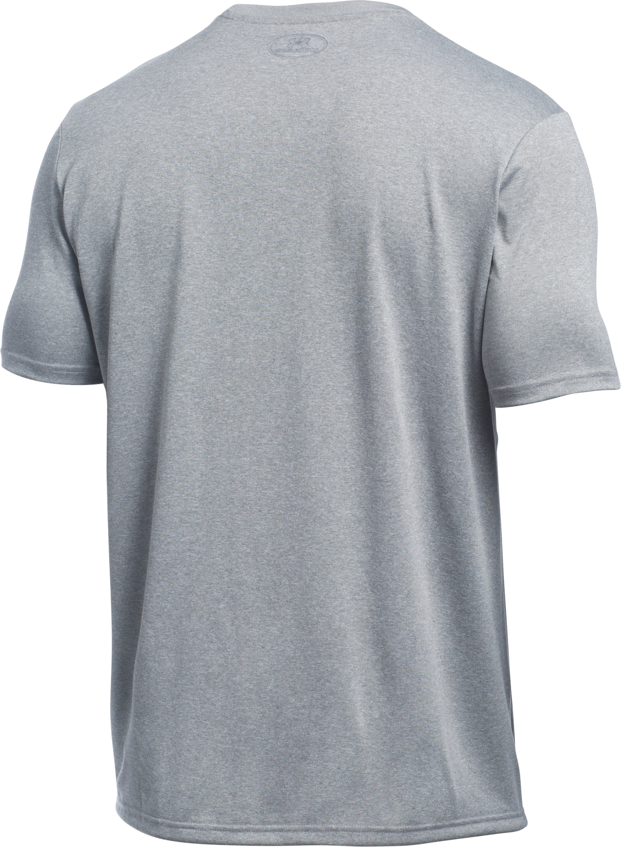 Men's UA Run Chest Graphic T-Shirt , True Gray Heather