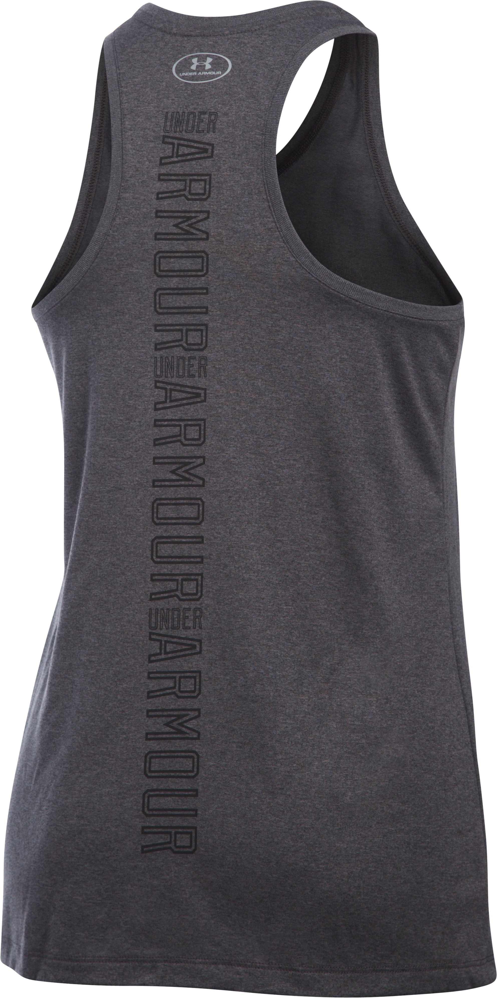 Women's UA Tech™ Branded Tank, Carbon Heather, undefined