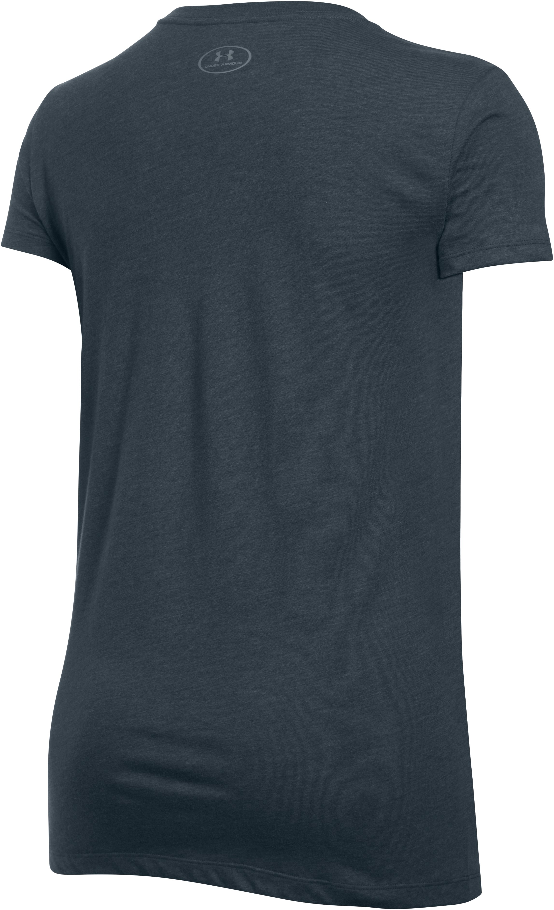 Women's UA Favorite Branded Short Sleeve, STEALTH GRAY, undefined