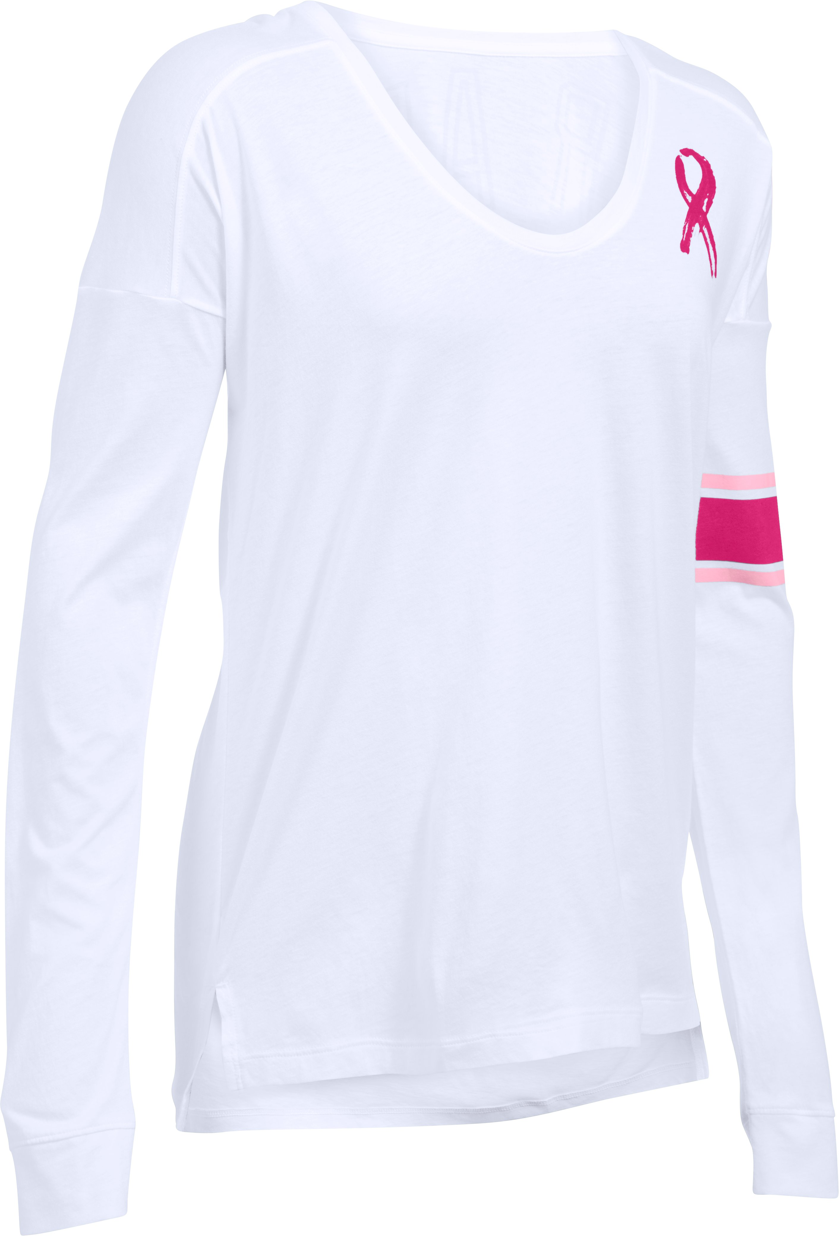 Women's UA Power In Pink® Favorite Long Sleeve, White