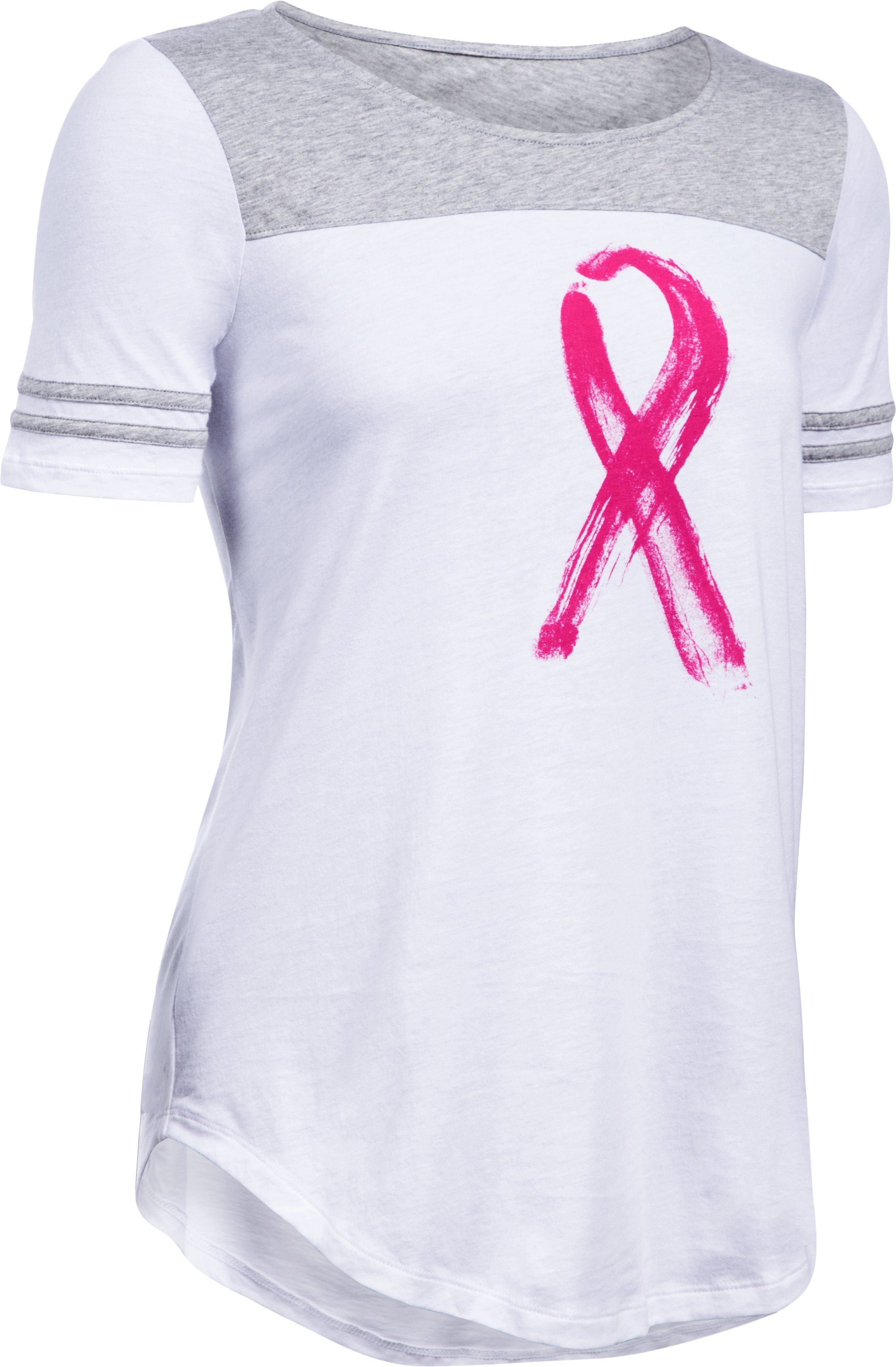 Women's UA Power In Pink® Baseball T, White, undefined