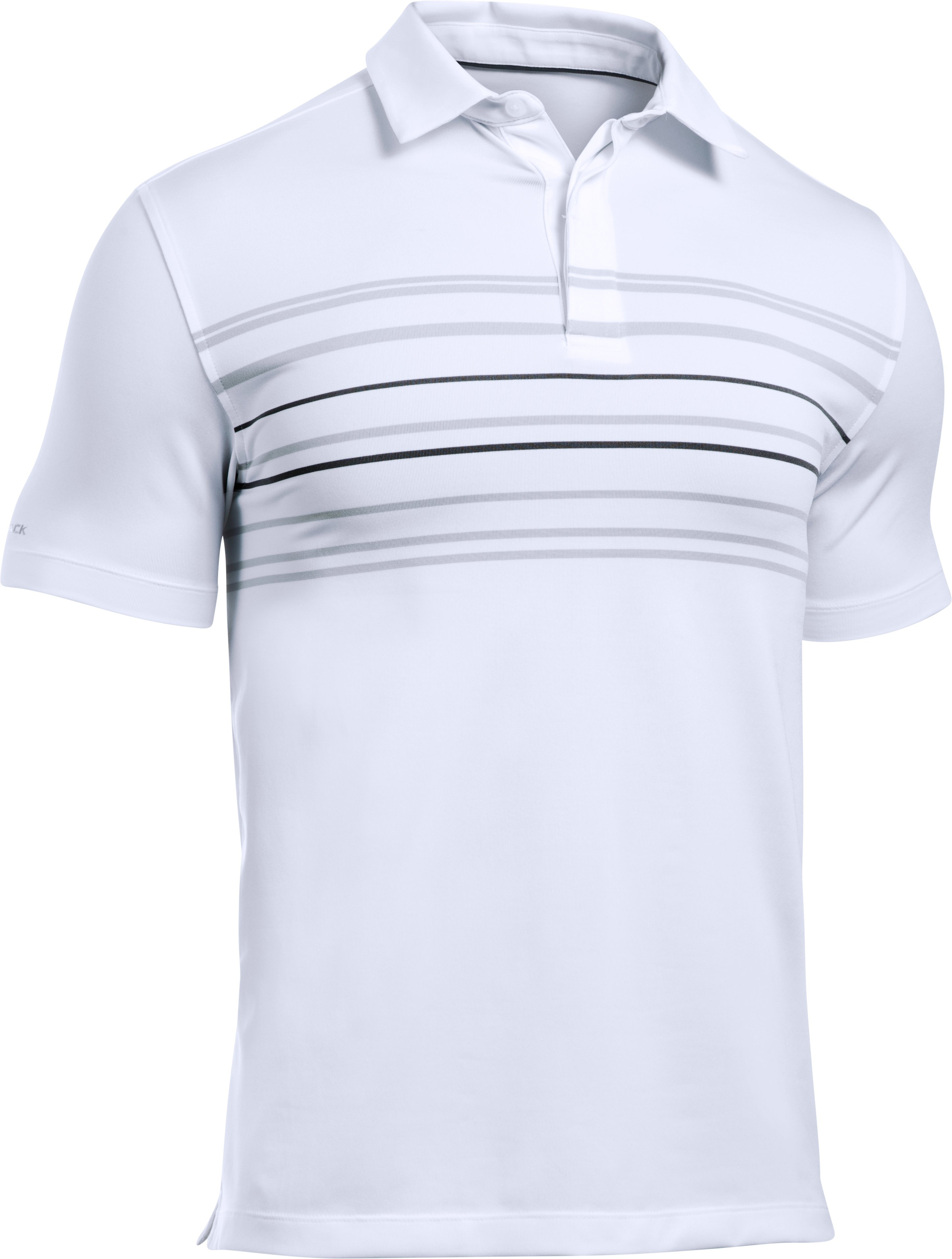 Men's UA coldblack® Approach Polo, White,