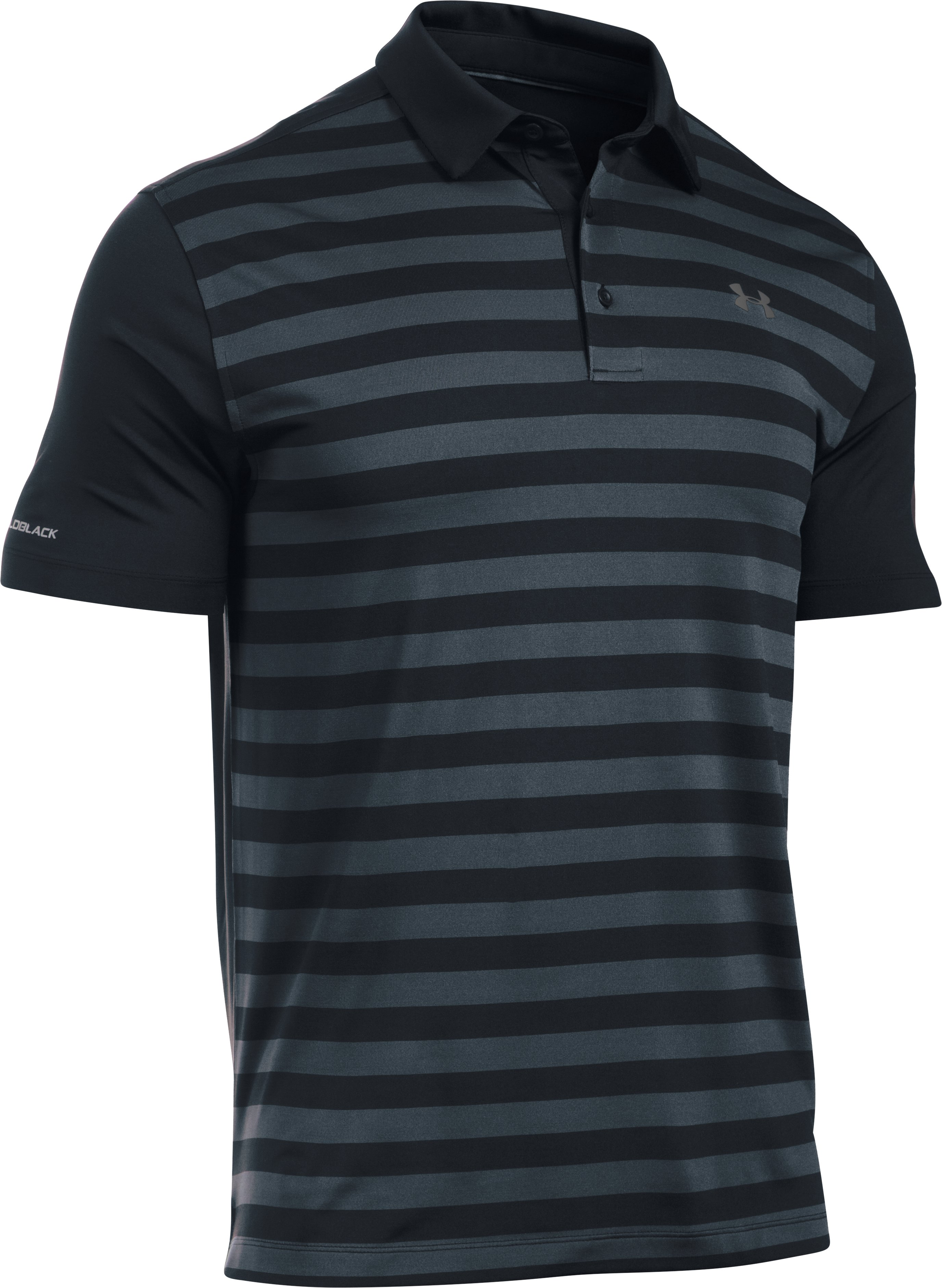Men's UA coldblack® Tempo Polo, STEALTH GRAY, undefined