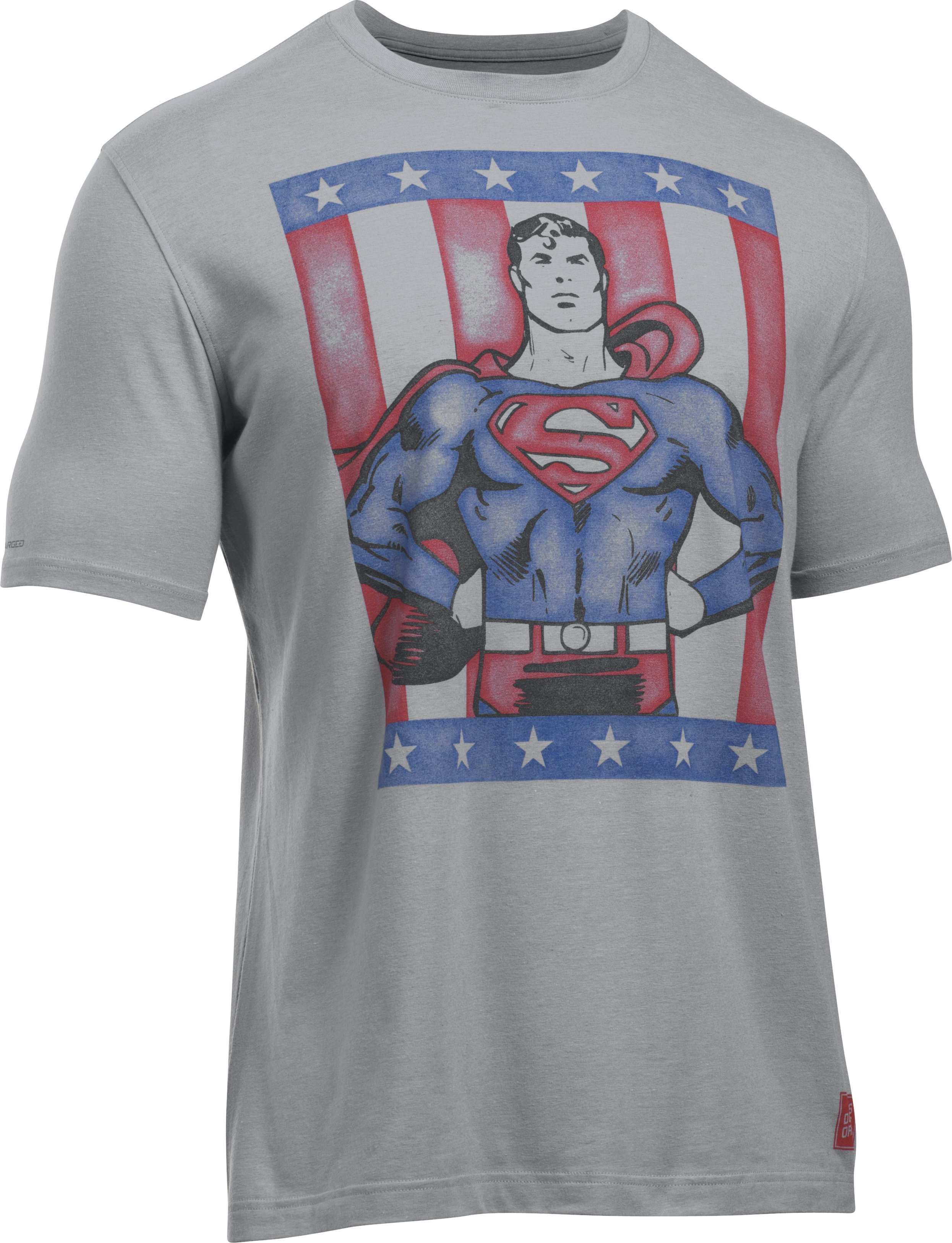 Men's Under Armour® Alter Ego Retro Superman T-Shirt , Steel, undefined