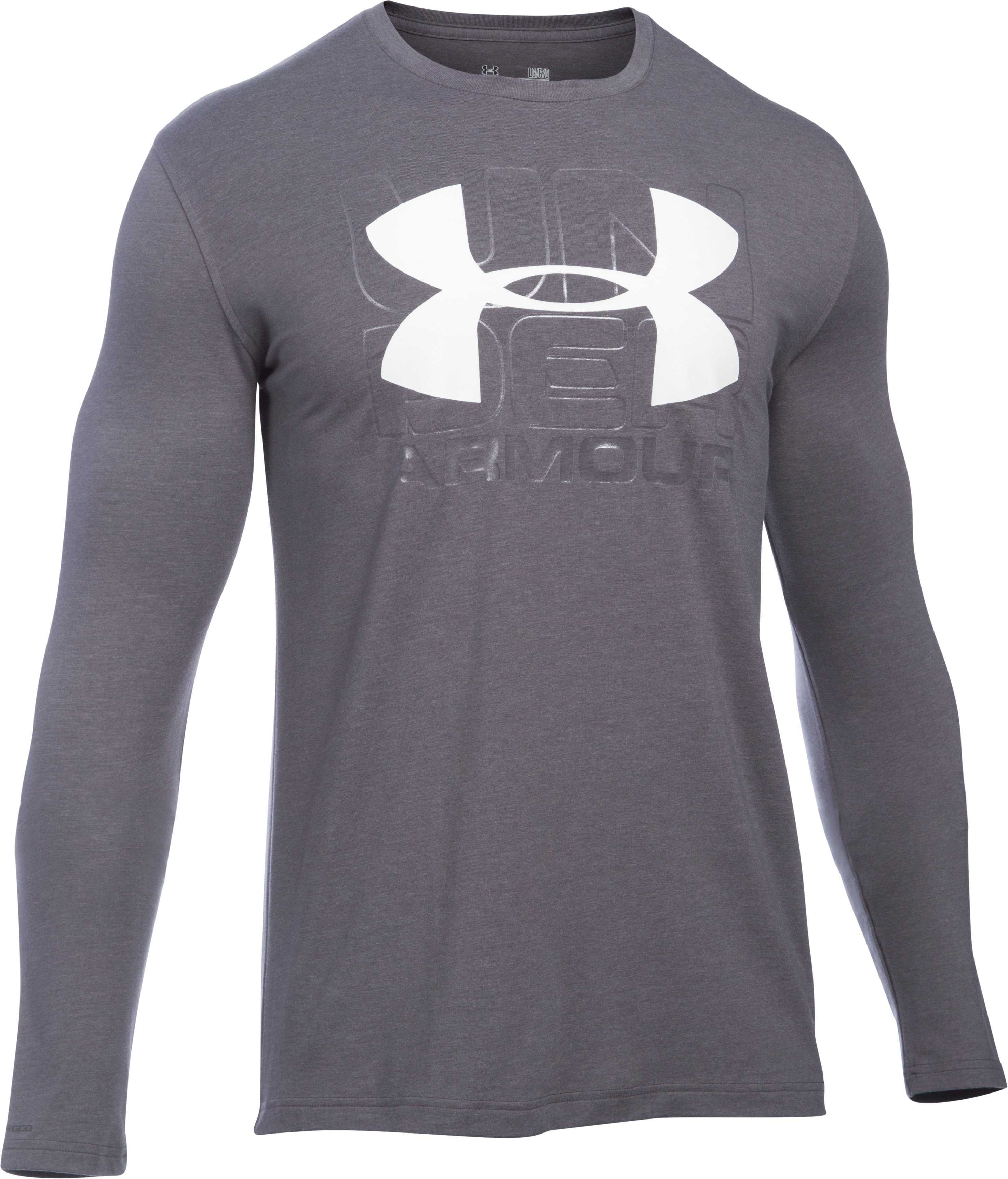 Men's UA Visionary Long Sleeve T-Shirt, Carbon Heather,