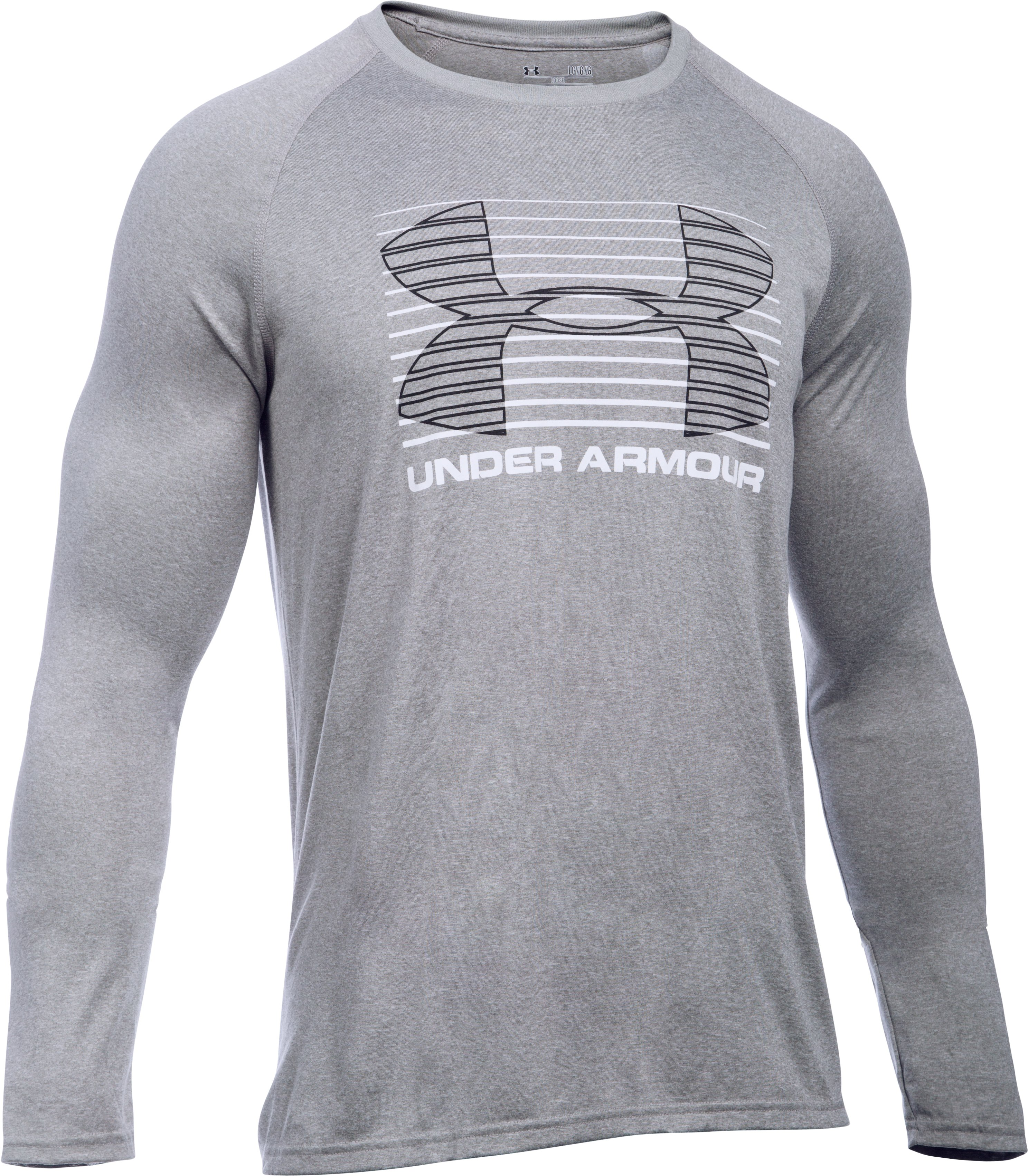 Men's UA Tech™ Rise Up Long Sleeve T-Shirt, True Gray Heather, undefined