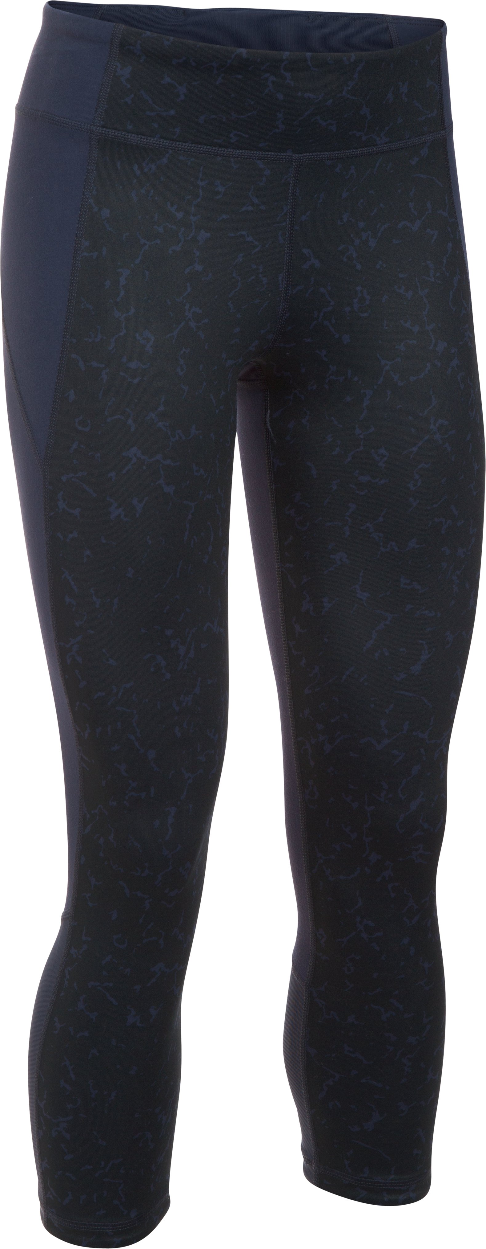 Women's UA Mirror Feathered Marble Crop, Midnight Navy