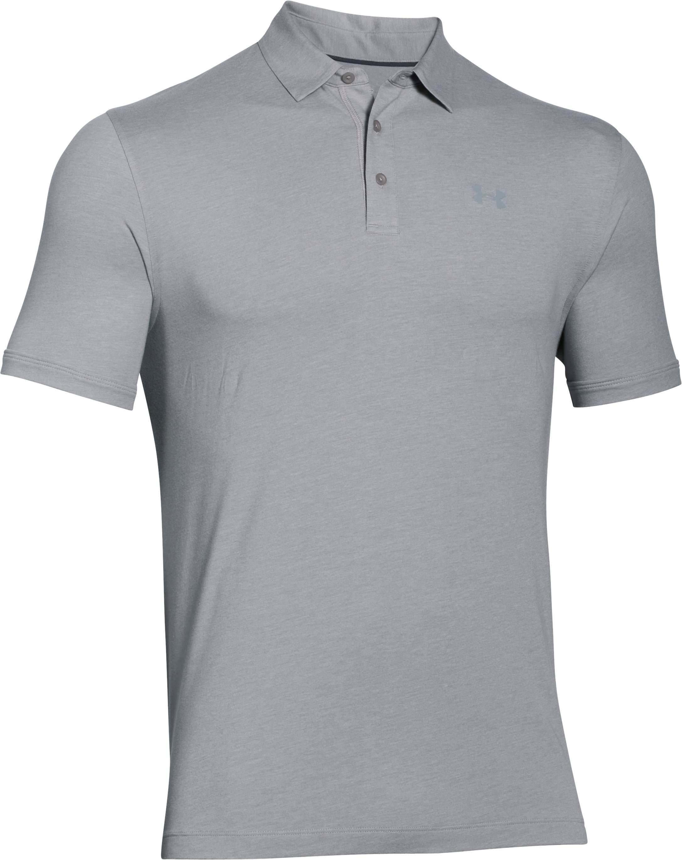 Men's Charged Cotton® Scramble Polo, True Gray Heather,