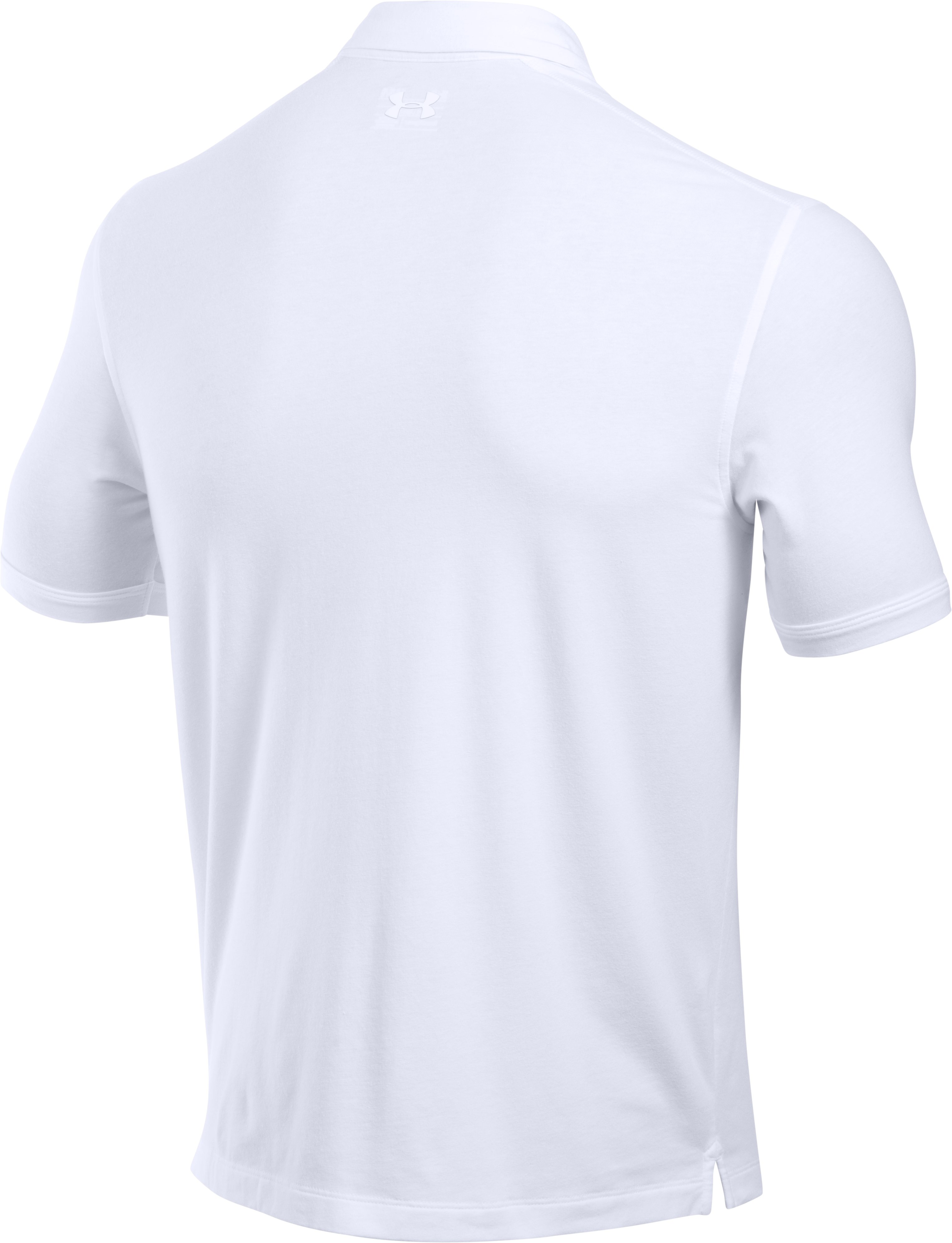 Men's Charged Cotton® Scramble Polo, White, undefined