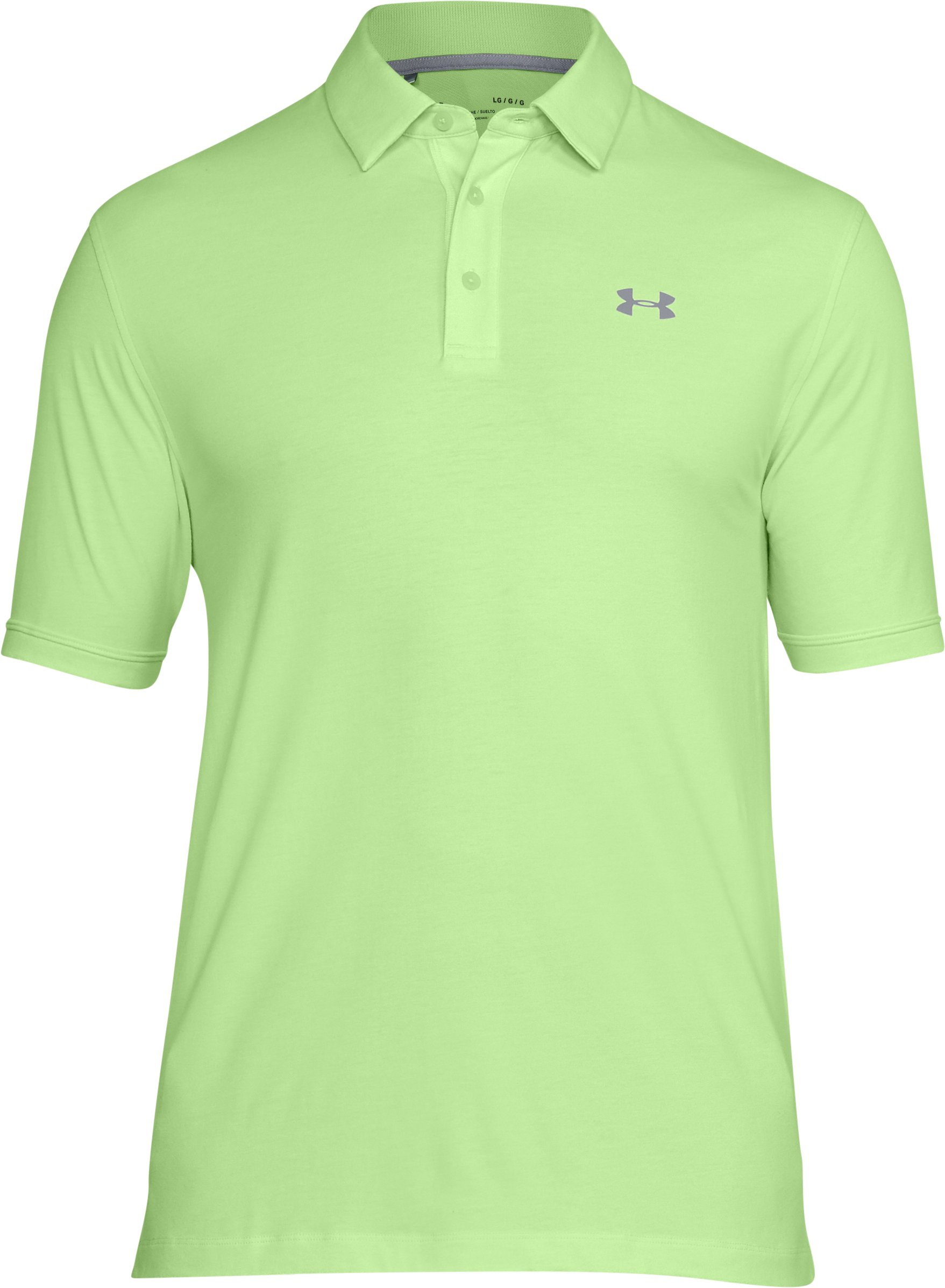 Men's Charged Cotton® Scramble Polo, LUMOS LIME,