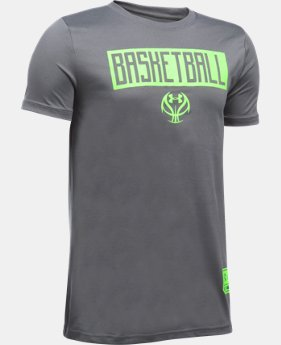 Boys' UA Basketball Lock Up T-Shirt LIMITED TIME: FREE SHIPPING 1 Color $17.99