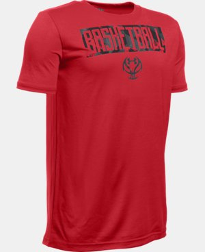 Boys' UA Basketball Lock Up T-Shirt LIMITED TIME: FREE U.S. SHIPPING 1 Color $19.99