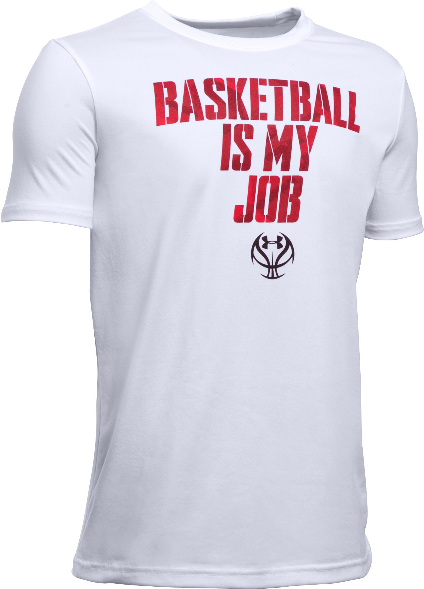 Boys' UA Basketball Is My Job T-Shirt, White, zoomed image