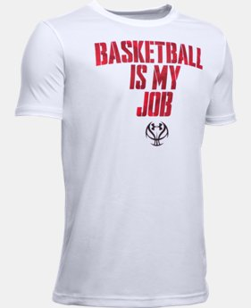 New Arrival Boys' UA Basketball Is My Job T-Shirt LIMITED TIME: FREE SHIPPING 1 Color $19.99