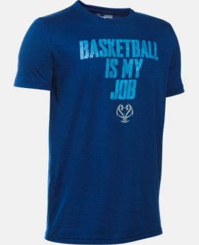 New Arrival Boys' UA Basketball Is My Job T-Shirt LIMITED TIME: FREE SHIPPING  $19.99