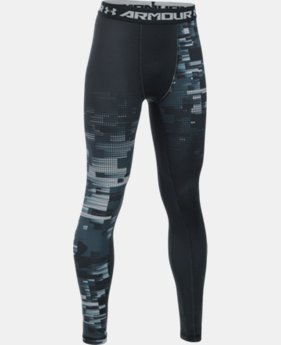 Boys' UA ColdGear® Armour Up Printed Legging  2 Colors $44.99