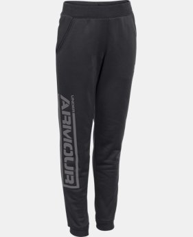 Boys' UA Armour® Fleece Jogger Pants LIMITED TIME: FREE U.S. SHIPPING 2 Colors $37.99