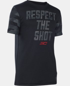 New Arrival Boys' UA Respect The Shot T-Shirt LIMITED TIME: FREE SHIPPING  $29.99