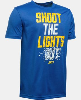 Best Seller Boys' SC30 Shoot The Lights Out T-Shirt LIMITED TIME: FREE SHIPPING 1 Color $24.99