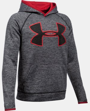 Boys' UA Armour® Fleece Highlight Twist Hoodie LIMITED TIME OFFER + FREE U.S. SHIPPING 3 Colors $29.99