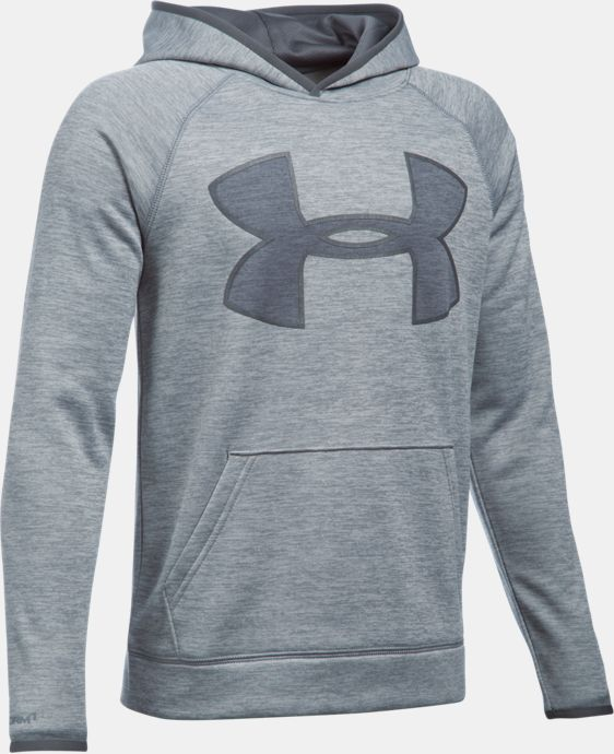 New Arrival  Boys' UA Storm Armour® Fleece Twist Highlight Hoodie  2 Colors $59.99