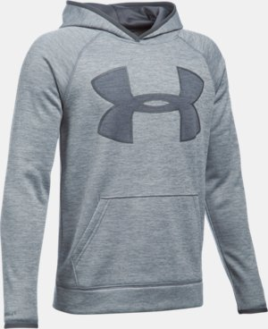 New Arrival  Boys' UA Storm Armour® Fleece Twist Highlight Hoodie  5 Colors $59.99