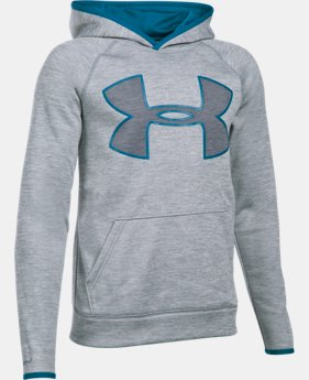 Boys' UA Armour® Fleece Highlight Twist Hoodie LIMITED TIME: FREE U.S. SHIPPING 4 Colors $29.99
