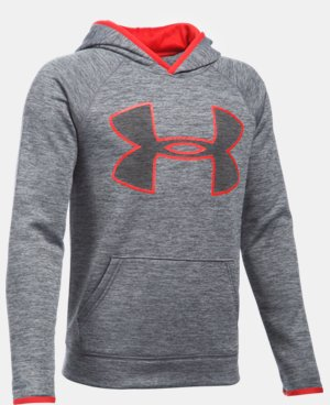 Boys' UA Armour® Fleece Highlight Twist Hoodie LIMITED TIME OFFER + FREE U.S. SHIPPING  $29.99