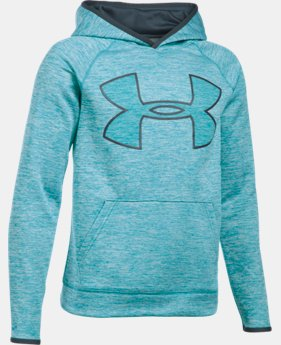 New Arrival  Boys' UA Storm Armour® Fleece Twist Highlight Hoodie  1 Color $59.99