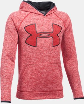 Boys' UA Armour® Fleece Highlight Twist Hoodie  1 Color $27.99