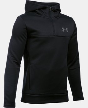 Boys' UA Storm Armour® Fleece 1/4 Zip Hoodie  4 Colors $32.99 to $41.99