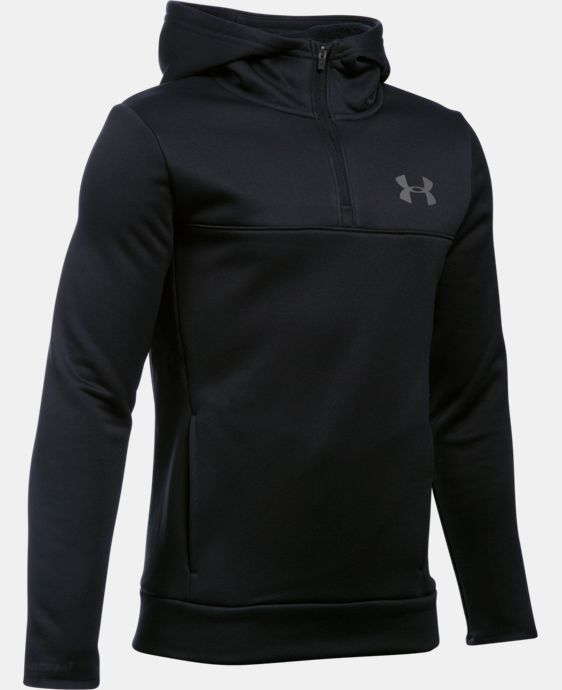 Boys' UA Storm Armour® Fleece 1/4 Zip Hoodie LIMITED TIME: FREE SHIPPING 1 Color $48.74