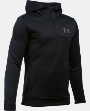 Boys' UA Storm Armour® Fleece 1/4 Zip Hoodie  1 Color $48.74