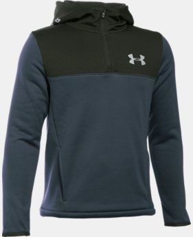 New Arrival  Boys' UA Storm Armour® Fleece 1/4 Zip Hoodie  4 Colors $64.99