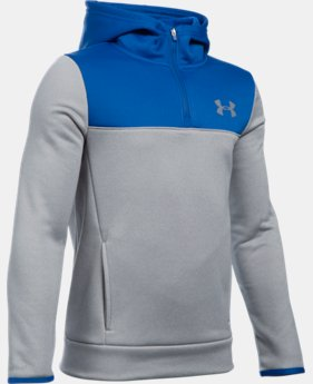 Boys' UA Storm Armour® Fleece 1/4 Zip Hoodie  1 Color $35.99