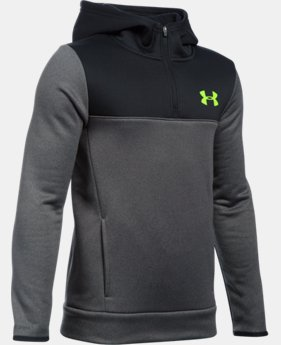 Boys' UA Storm Armour® Fleece 1/4 Zip Hoodie  4 Colors $48.74