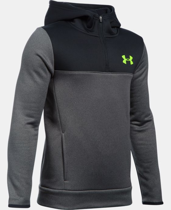 Boys' UA Storm Armour® Fleece 1/4 Zip Hoodie  3 Colors $48.74