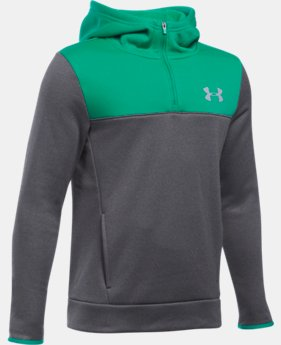 Boys' UA Storm Armour® Fleece 1/4 Zip Hoodie   $41.99