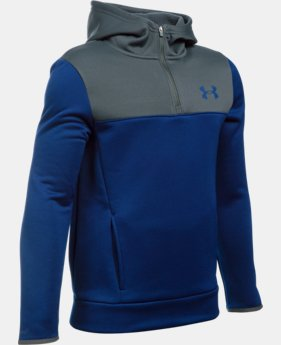 New Arrival  Boys' UA Storm Armour® Fleece 1/4 Zip Hoodie   $64.99