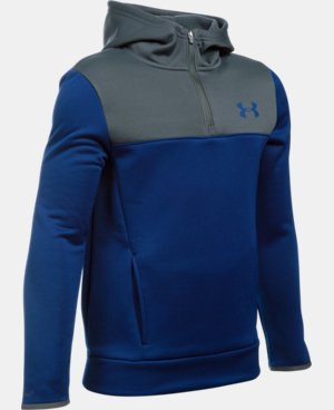 New Arrival  Boys' UA Storm Armour® Fleece 1/4 Zip Hoodie  7 Colors $64.99