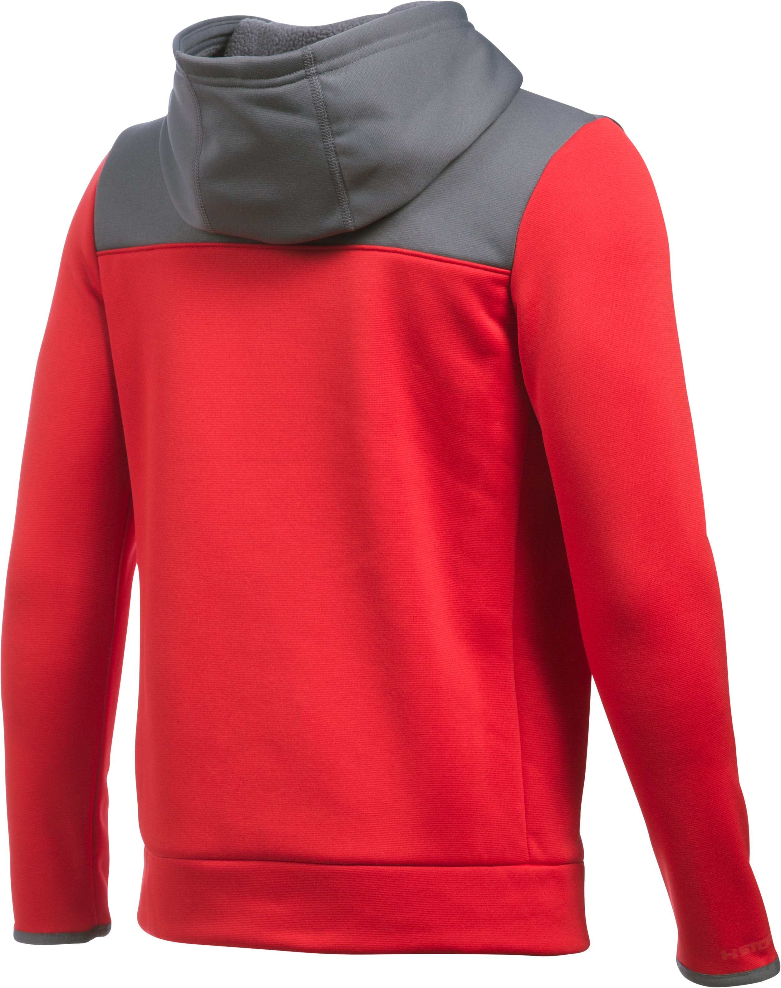 Boys' UA Storm Armour Fleece® 1/4 Zip Hoodie, Red, undefined