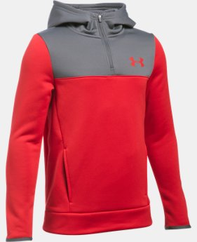 Boys' UA Storm Armour® Fleece 1/4 Zip Hoodie LIMITED TIME OFFER + FREE U.S. SHIPPING 1 Color $29.99