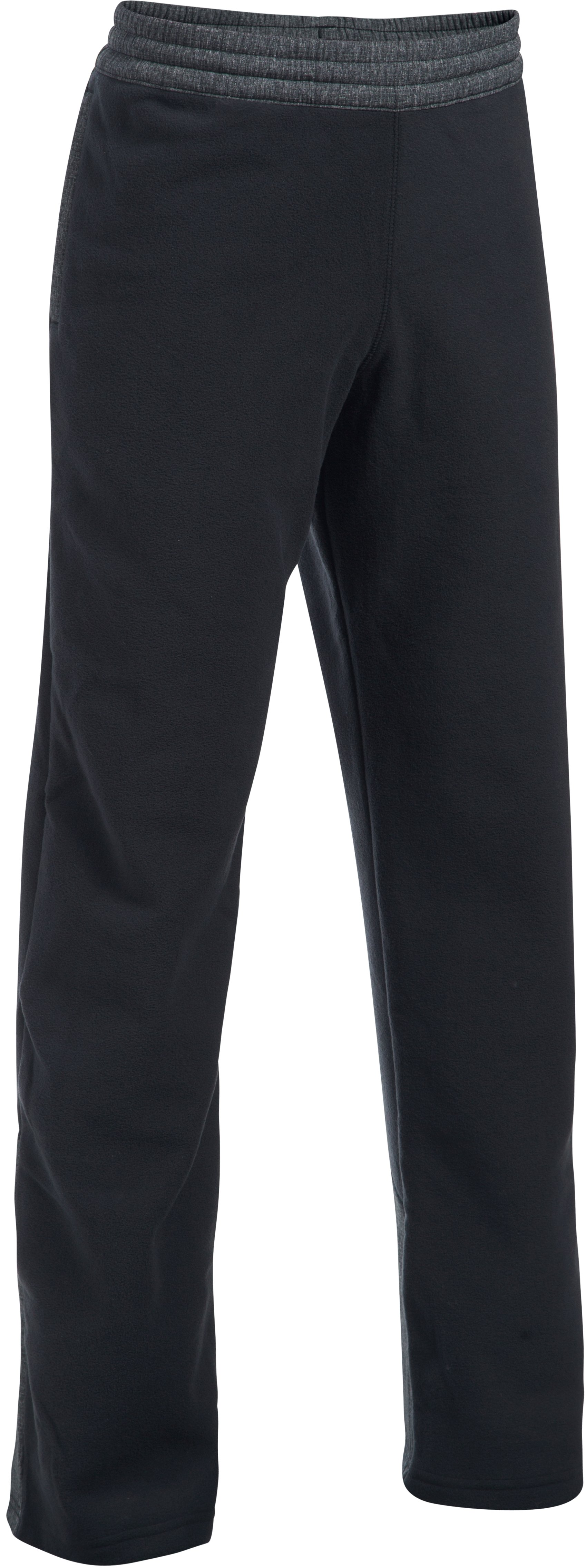Boys' ColdGear® Infrared Fleece Pants, Black , undefined